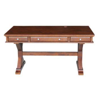 International Concepts Canyon Espresso 3-Drawer Desk