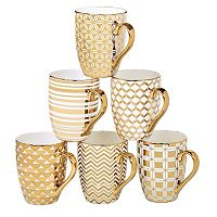 Certified International 6-pc. Plated Tapered Mug Set