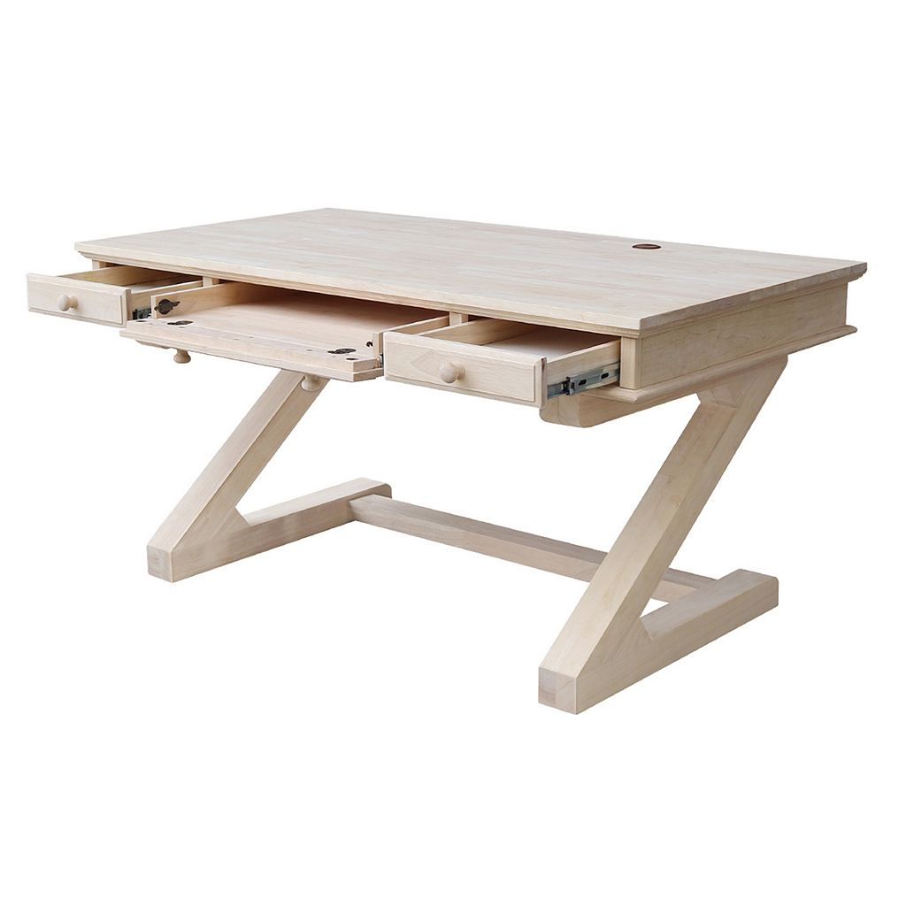 International Concepts White Zodiac Desk