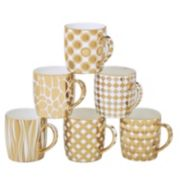 Certified International 6-pc. Plated Barrel Mug Set