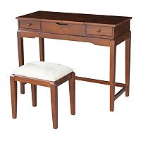 International Concepts Vanity Table & Bench 2 pc Set