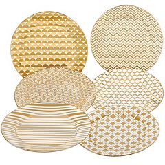 Certified International 6 pc Tapered Dessert Plate Set