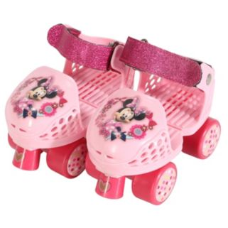 Disney's Minnie Mouse Youth Glitter Roller Skates & Knee Pads Set by PlayWheels