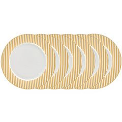 Certified International 6 pc Plated Dinner Plate Set
