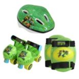 Youth Teenage Mutant Ninja Turtles Roller Skates, Knee Pads & Helmet Set by Playwheels