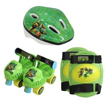 Youth Teenage Mutant Ninja Turtles Roller Skates, Knee Pads & Helmet Set by PlayWheels