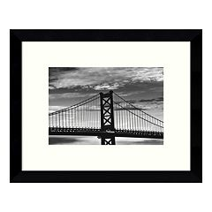 Benjamin Franklin Bridge Framed Wall Art