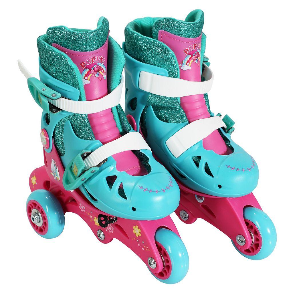 DreamWorks Trolls Poppy Youth Glitter Convertible Roller Skates by PlayWheels