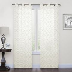 SONOMA Goods For LifeTM 2 Pack Fret Embroidery Window Curtains