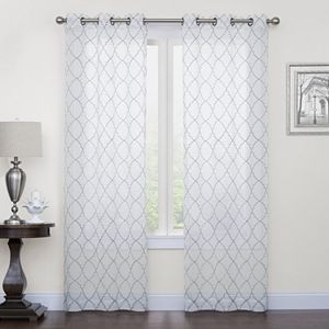 Sonoma Goods For Life? 2-pack Fret Embroidery Window Curtains