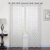 Regent Court 2-pack Fret Embroidery Window Curtains