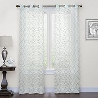 Regent Court Fret Embroidery Window Curtain Set