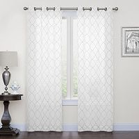 Regent Court 2-pack Fret Embroidery Window Curtain