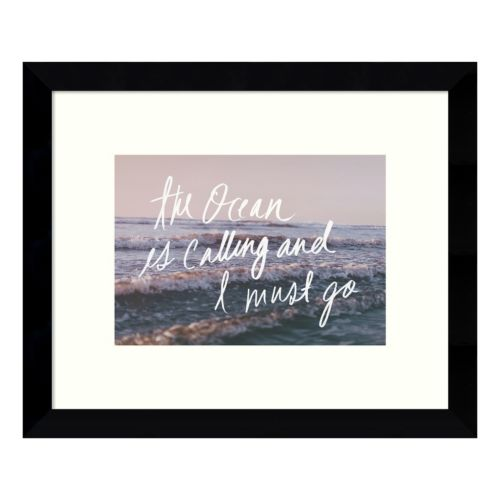 The Ocean Is Calling Framed Wall Art