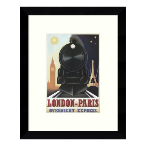 London-Paris Overnight Express Framed Wall Art