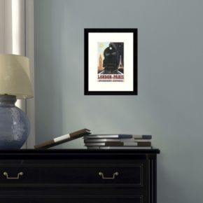 """London-Paris Overnight Express"" Framed Wall Art"