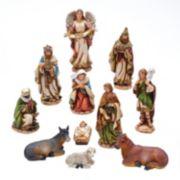 Kurt Adler 11pc. Christmas Nativity Set