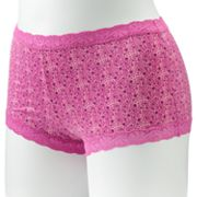 Maidenform Microfiber Lace-Trim Boyshorts - 40760