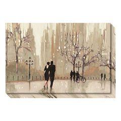 An Evening Out Neutral Canvas Wall Art