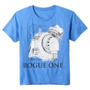 Boys 8-20 Rouge One: A Star Wars Story Schematic Tee