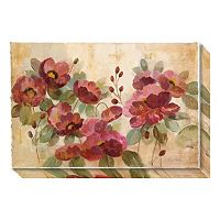 Fleurs Rouge Canvas Wall Art