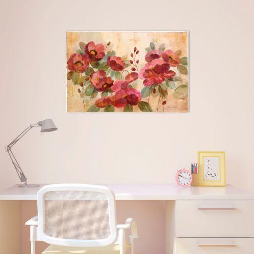 Fleurs Rouge Canvas Wall Art