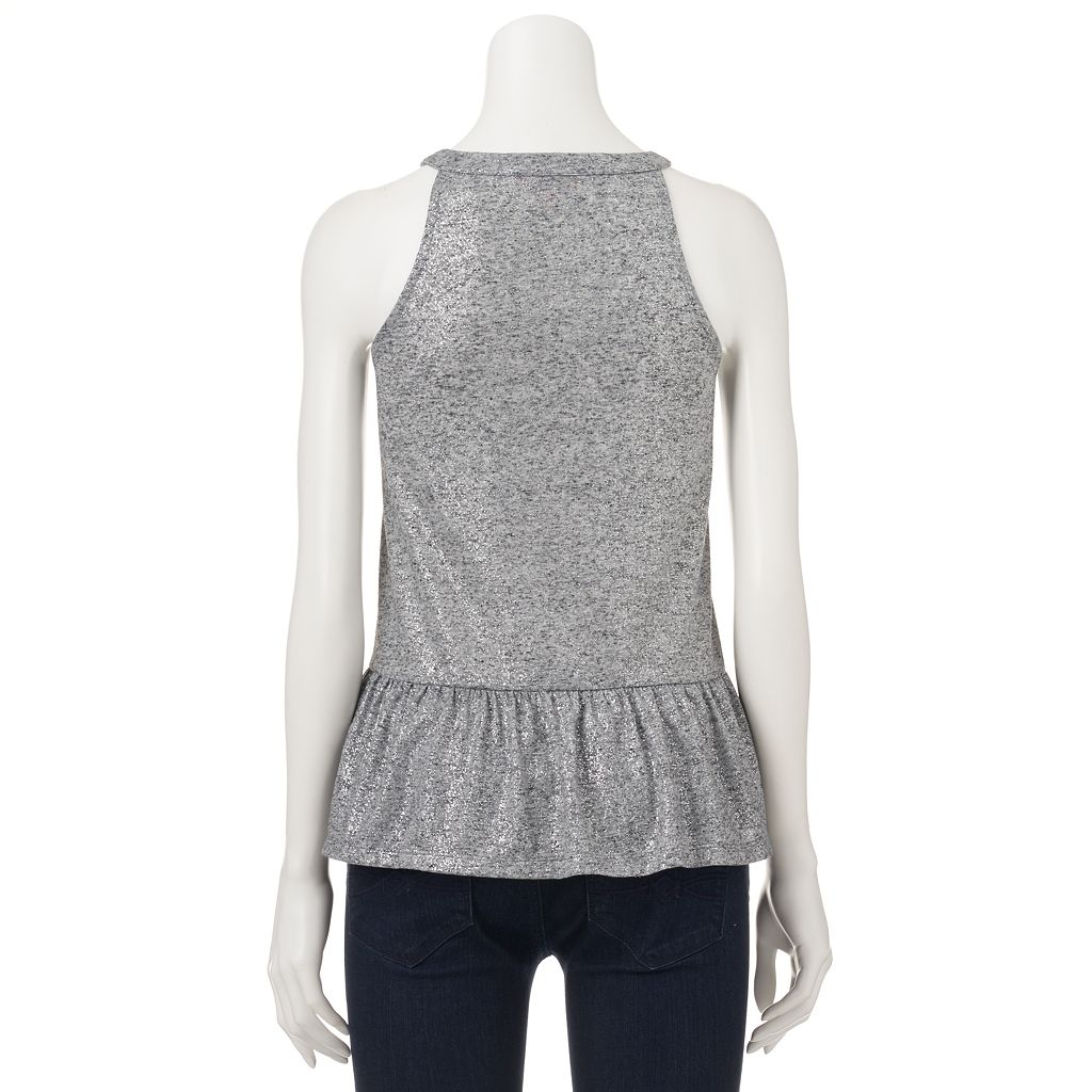 Women's Juicy Couture Metallic Halter Top