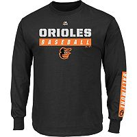 Men's Majestic Baltimore Orioles Proven Pasttime Long-Sleeve Tee