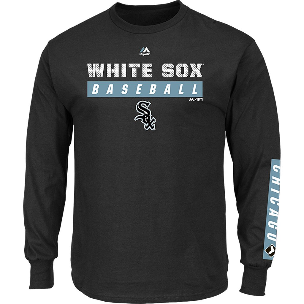 Men's Majestic Chicago White Sox Proven Pasttime Long-Sleeve Tee