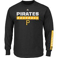 Men's Majestic Pittsburgh Pirates Proven Pasttime Long-Sleeve Tee