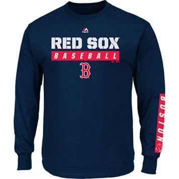 Men's Majestic Boston Red Sox Proven Pasttime Long-Sleeve Tee