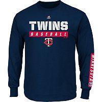 Men's Majestic Minnesota Twins Proven Pasttime Long-Sleeve Tee