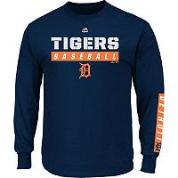 Men's Majestic Detroit Tigers Proven Pasttime Long-Sleeve Tee
