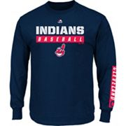 Men's Majestic Cleveland Indians Proven Pasttime Long-Sleeve Tee