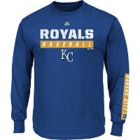 Men's Majestic Kansas City Royals Proven Pasttime Long-Sleeve Tee