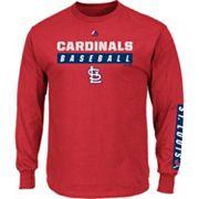 Men's Majestic St. Louis Cardinals Proven Pasttime Long-Sleeve Tee