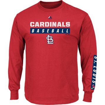 Men's Majestic St. Louis Cardinals Proven Pasttime Long-Sleeve Tee