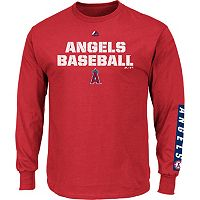 Men's Majestic Los Angeles Angels of Anaheim Proven Pasttime Long-Sleeve Tee