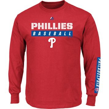 Men's Majestic Philadelphia Phillies Proven Pasttime Long-Sleeve Tee