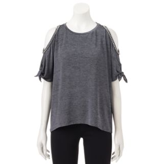 Women's Juicy Couture Embellished Cold-Shoulder Top