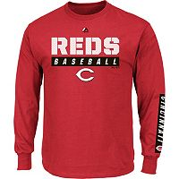 Men's Majestic Cincinnati Reds Proven Pasttime Long-Sleeve Tee