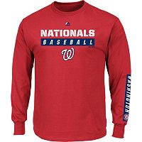 Men's Majestic Washington Nationals Proven Pasttime Long-Sleeve Tee