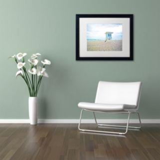 Trademark Fine Art Florida Beach Chair 2 Framed Wall Art