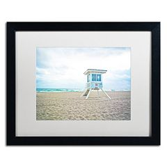 Trademark Fine Art Florida Beach Chair 2 Framed Wall Art