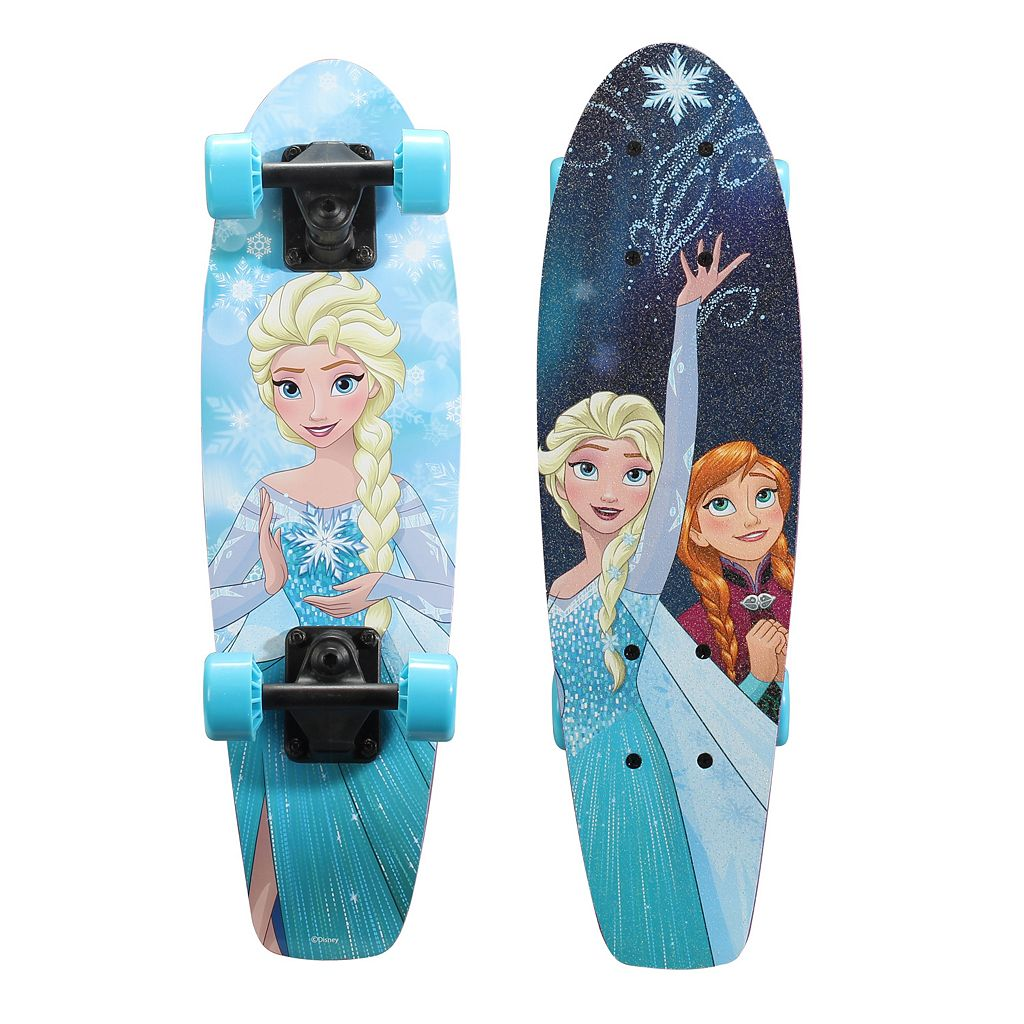 Disney's Frozen Elsa & Anna Snowflake Graphic 21-Inch Wood Cruiser Skateboard