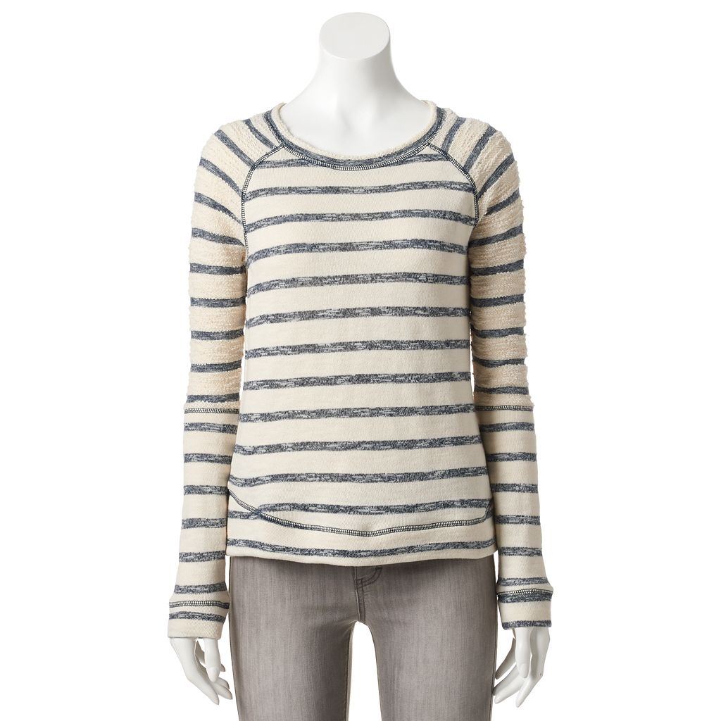 Women's SONOMA Goods for Life™ Striped French Terry Sweatshirt