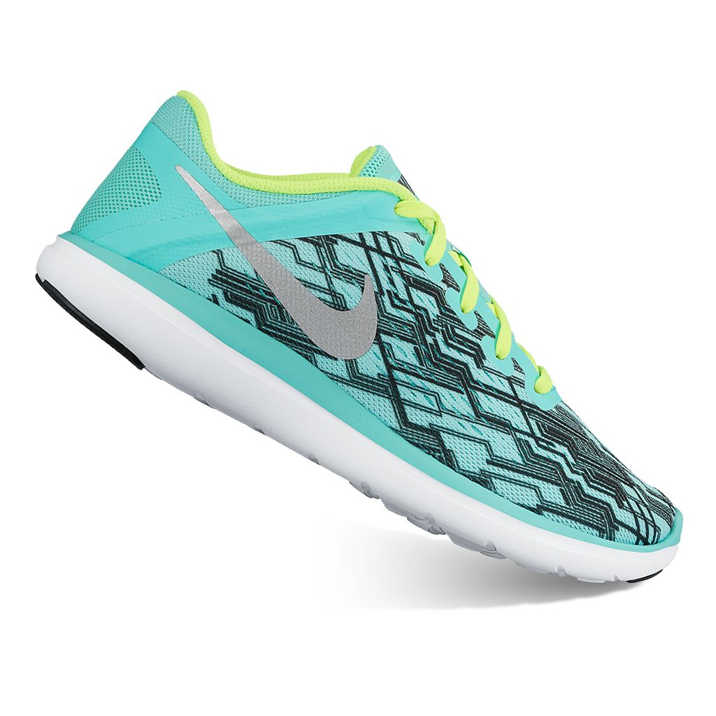 Nike Flex Run 2016 Print Grade School Girls' Running Shoes