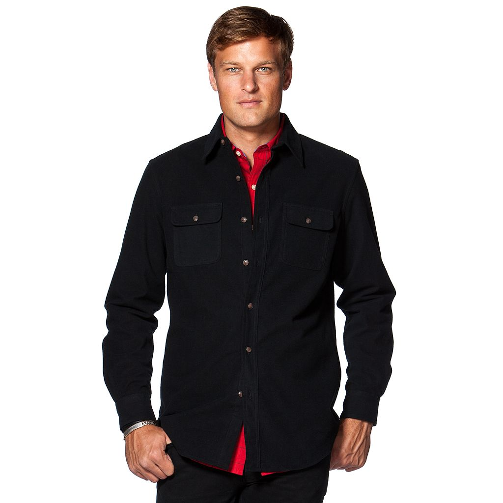 Big & Tall Chaps Classic-Fit Solid Button-Down Shirt
