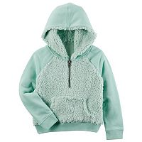 Girls 4-8 Carter's Hooded Sherpa Sweatshirt