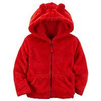 Girls 4-8 Carter's Velboa Hooded Jacket